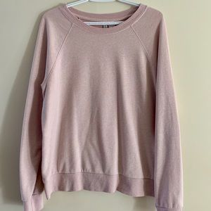 H&M Pink Cotton Long Sleeve Top